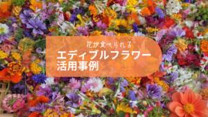 食べられる花「エディブルフラワー」活用事例